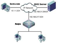动态域名解析配置组网图