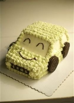 奶油汽车蛋糕_360百科