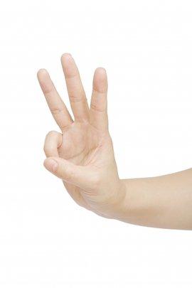 食指手势 ppt素材