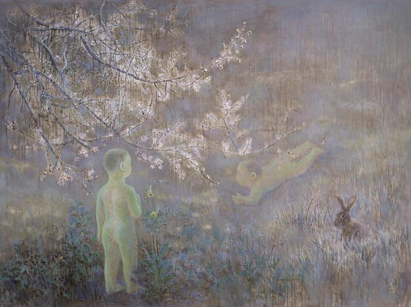 周红[梦之意象-桃花点点]布面油画200x150cm.2011
