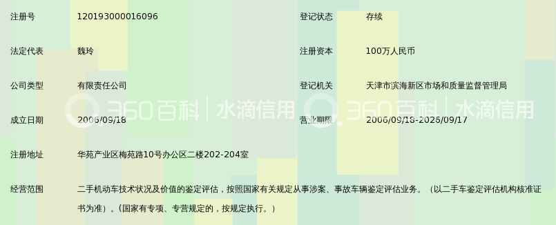 天津市中信津建机动车鉴定评估有限公司