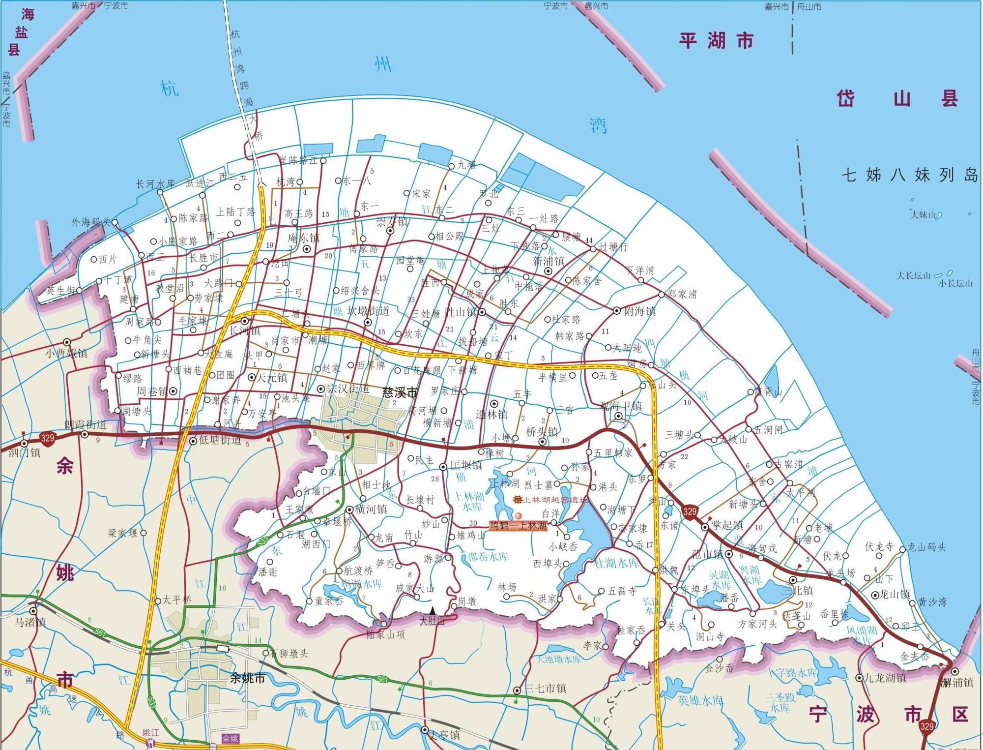 宁波余姚的地图