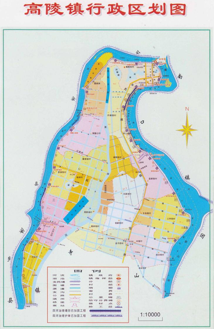 石首市高陵镇地图