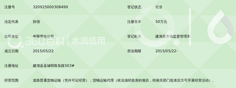 建湖苏通快运有限公司_360百科