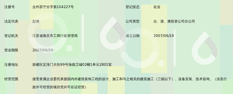 上海康业建筑装饰工程有限公司南京分公司
