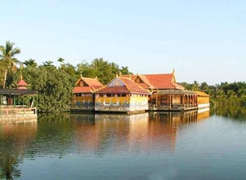 东南亚风情村占地300亩,这里椰树成林,各种热带水果琳琅满目.