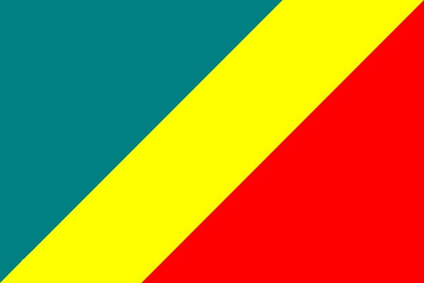 国旗呈长方形,长与宽之比为3:2
