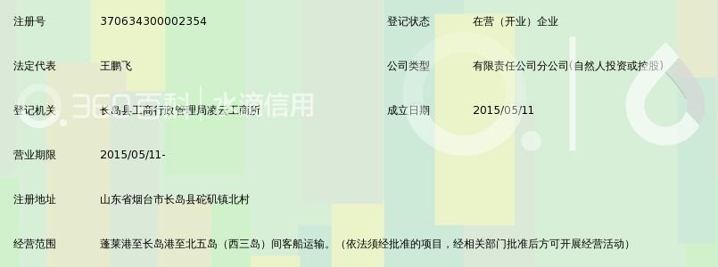 蓬莱映华海运有限公司长岛砣矶分公司